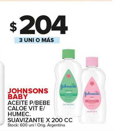 Carrefour Maxi Johnsons Baby Aceite P Bebe Caloe Vit E Humec. Suavizante