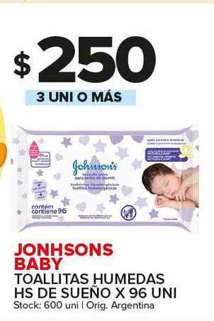 Carrefour Maxi Jonhsons Baby Toallitas Humedas Hs De Sueño X 96