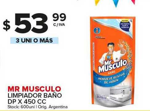 Carrefour Maxi Mr Musculo Limpiador Baño Dp