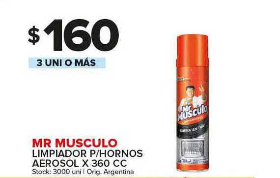 Carrefour Maxi Mr Musculo Limpiador P Hornos Aerosol