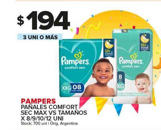 Carrefour Maxi Pampers Pañales Comfort Sec Max Vs Tamaños