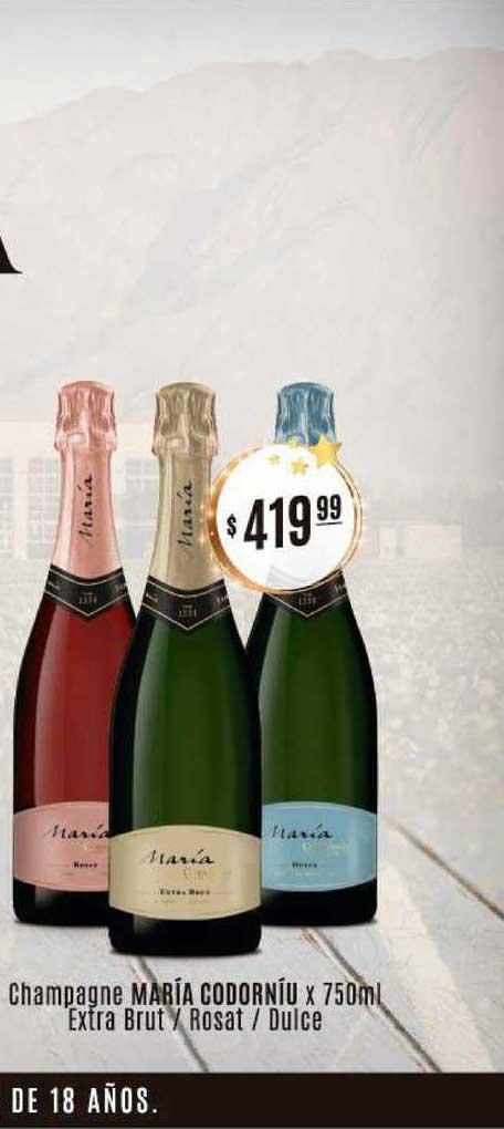 Arcoiris Supermercados Champagne María Codorníu Extra Brut Rosat Dulce