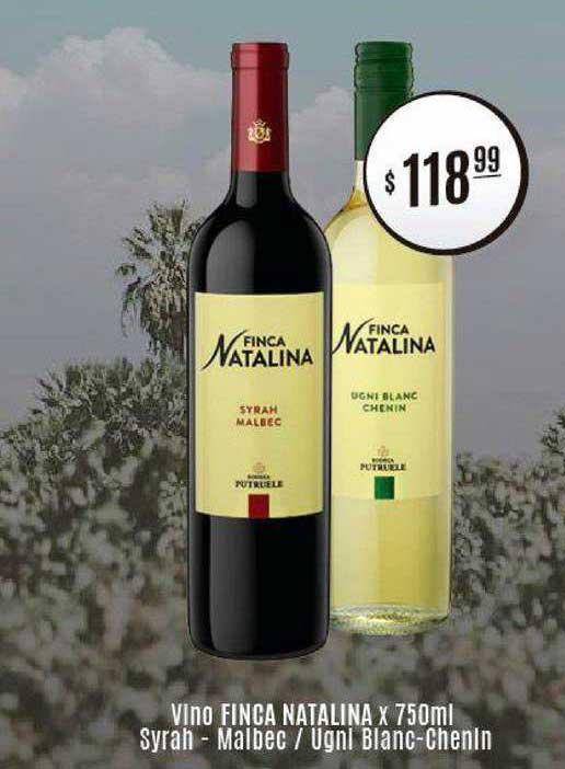 Arcoiris Supermercados Vino Finca Natalina Syrah Malbec Ugni Blanc Chenin