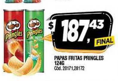 Supermercados Yaguar Papas Fritas Pringles