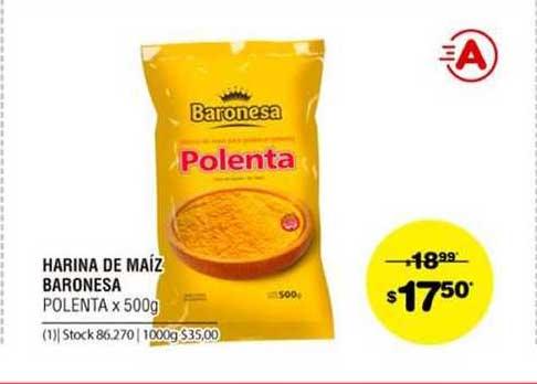 ATOMO Conviene Harina De Maíz Baronesa Polenta