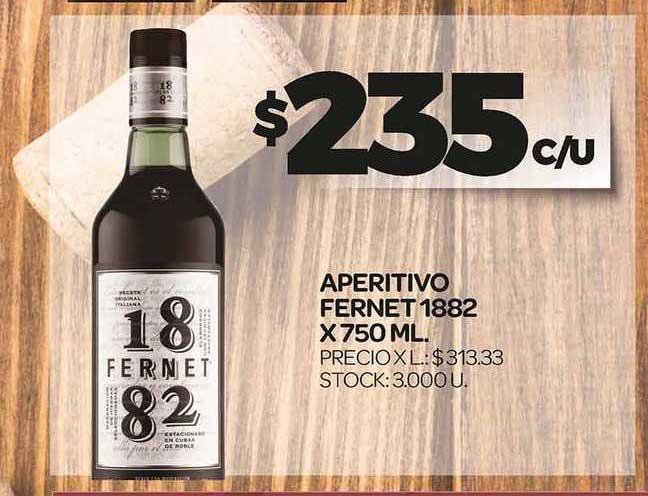Supermercados DIA Aperitivo Fernet 1882 X 750 ML.