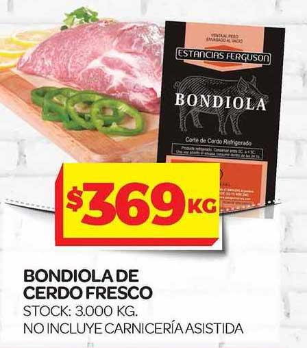 Supermercados DIA Bondiola De Cerdo Fresco