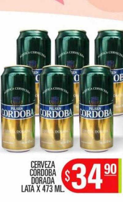 Supermercados Caracol Cerveza Cordoba Dorada Lata X 473 ML