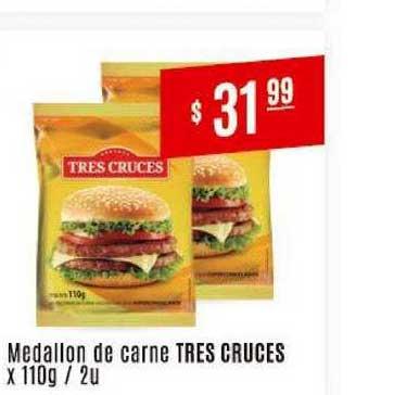 Arcoiris Supermercados Medallon De Carne Tres Cruces X 110g - 2 U