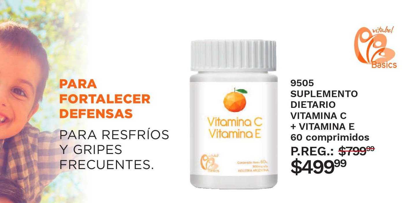 Arbell 9505 Suplemento Dietario Vitamina C + Vitamina E 60 Comprimidos