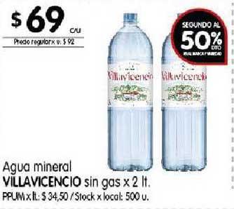 Disco Agua Mineral Villavicencio Sin Gas