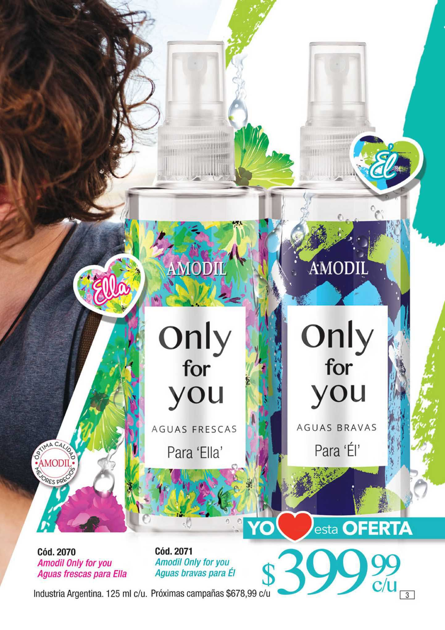Amodil Amodil Only For You Aguas Frescas Para Ella Amodil Only For You Aguas Bravas Para éi