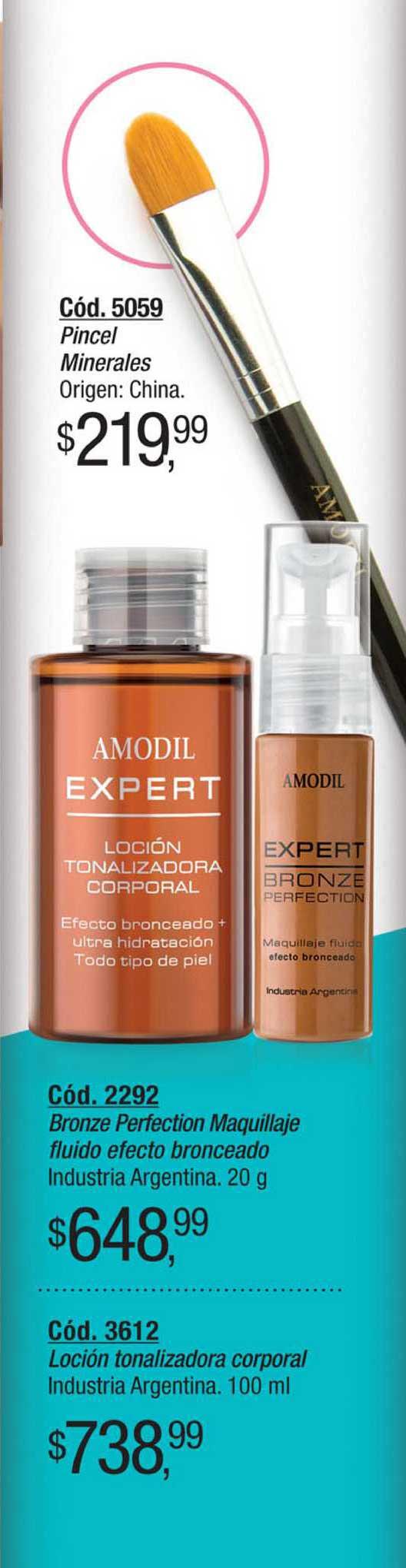 Amodil Bronze Perfection Maquillaje Industria Argentina Fluido Efecto Bronceado Industria Argentina Loción Tonalizadora Corporal Industria Argentina