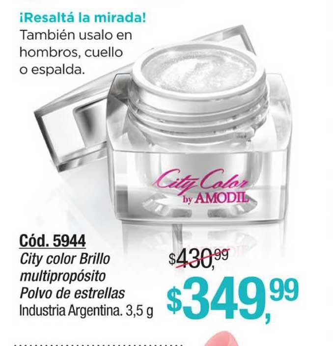 Amodil City Color Brillo Multi Multipropósito Polvo De Estrellas Industria Argentina