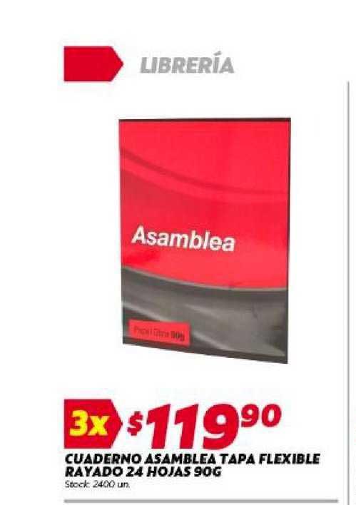 Ferniplast Cuaderno Asamblea Tapa Flexible Rayado 24 Hojas
