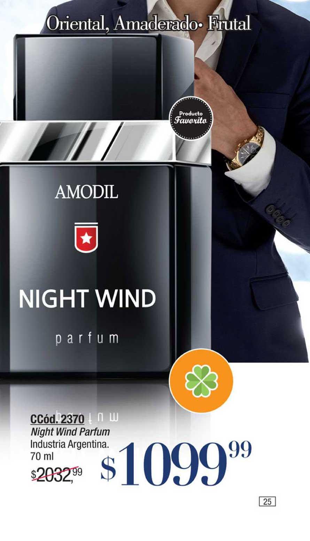 Amodil Night Wind Parfum Industria Argentina