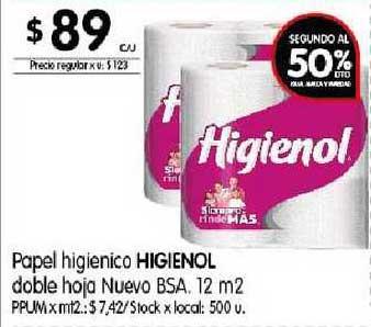 Disco Papel Higienico Higienol Doble Hoja Nuevo Bsa.