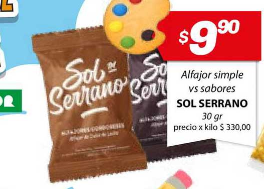 Almacor Alfajor Simple Vs Sabores Sol Serrano