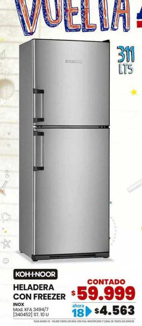 Trabuco Hogar Koh-i-noor Heladera Con Freezer