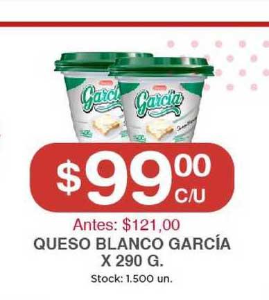 Supermercados Tadicor Queso Blanco García