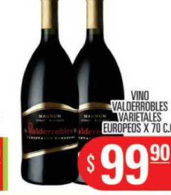 Supermercados Caracol Vino Valderrobles Varietales Europeos