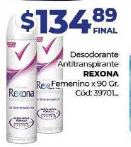Diarco Desodorante Antitranspirante Rexona Femenino