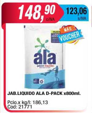 Maxiconsumo Jab. Liquido Ala D-pack