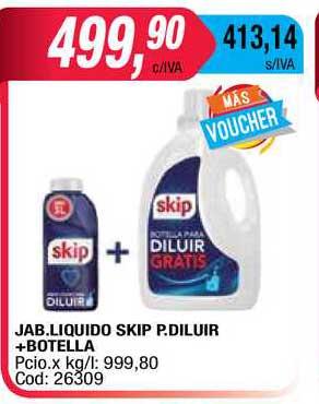 Maxiconsumo Jab. Liquido Skip P. Diluir + Botella