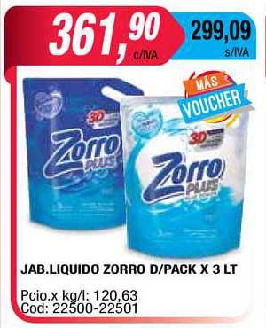 Maxiconsumo Jab. Liquido Zorro D Pack