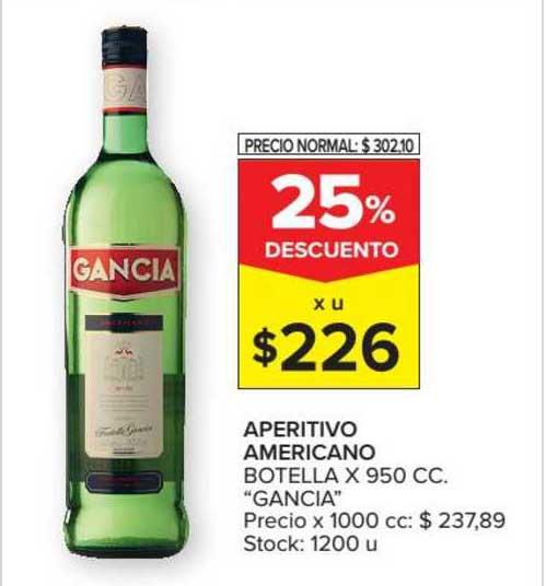 Carrefour Market Aperitivo Americano Botella X 950 CC.