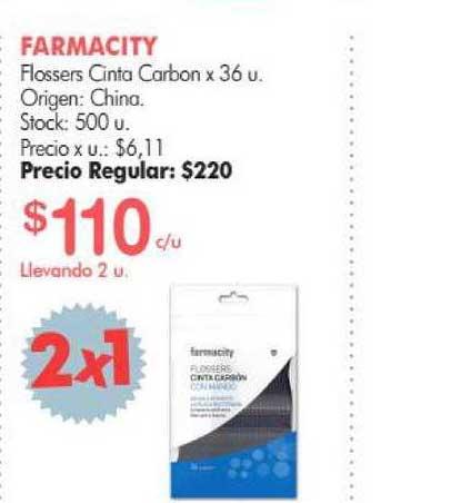 Simplicity Farmacity Flossers Cinta Carbon X 36 U