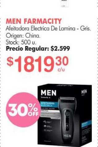 Simplicity Men Farmacity Afeitadora Electrico De Lamina - Gris