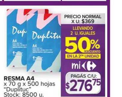 Carrefour Resma A4 X 70 G X 500 Hojas
