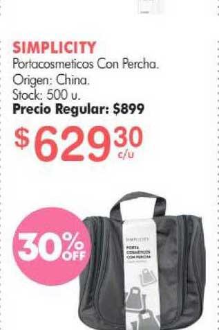 Simplicity Simplicity Portacosmeticos Con Percha