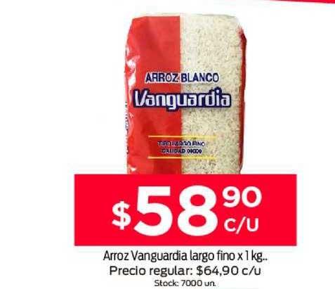Supermercados Tadicor Arroz Vanguardia Largo Fino X 1 Kg.