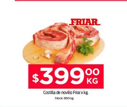 Supermercados Tadicor Costilla De Novillo Friar X Kg.