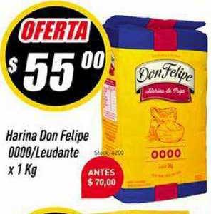 Supermercados Comodin Harina Don Felipe 0000-Leudante X 1 Kg