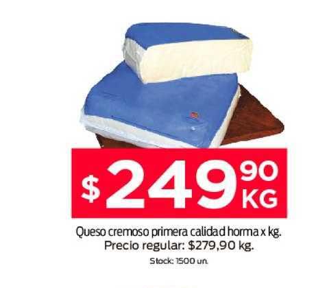 Supermercados Tadicor Queso Cremoso Primera Calidad Horma X Kg.