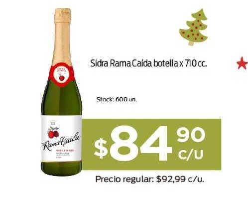 Supermercados Tadicor Sidra Rama Caída Botella X 710cc.