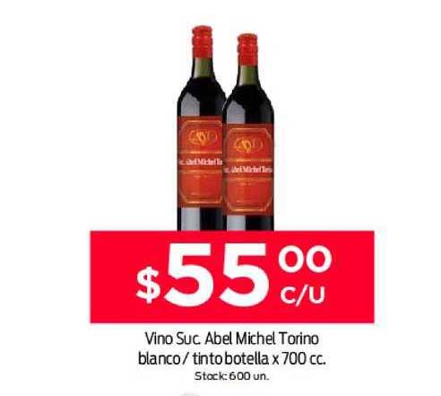 Supermercados Tadicor Vino Suc Abel Michel Torino Blanco-tinto Botella X 700 Cc.