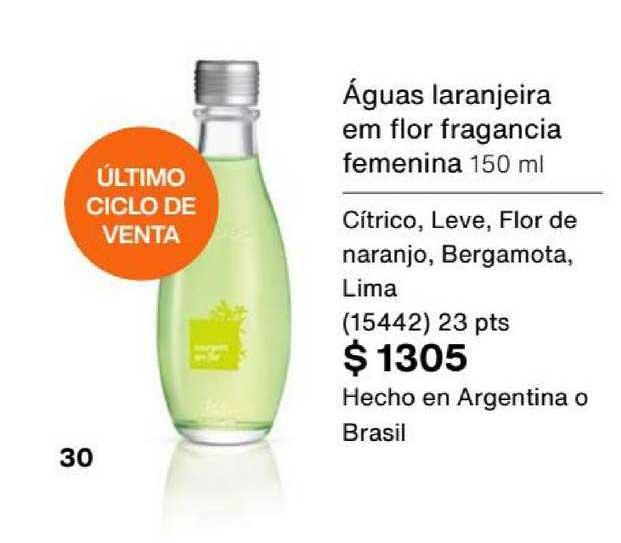 Natura Águas Laranjeira Em Flor Fragancia Femenina 150 Ml