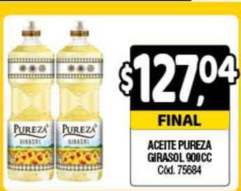 Supermercados Yaguar Aceite Pureza Girasol 900cc