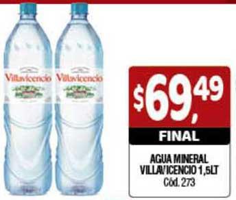 Supermercados Yaguar Agua Mineral Villavicencio 1,5lt