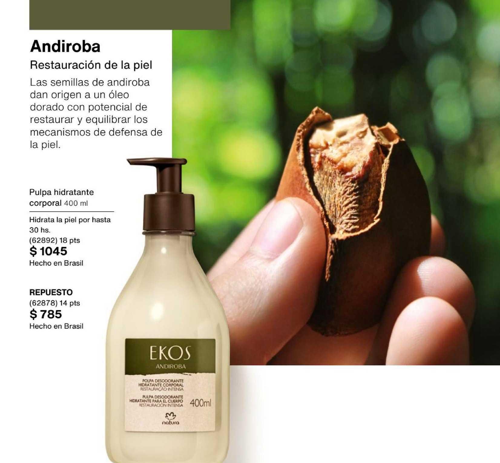 Natura Andiroba Pulpa Hidratante Corporal 400 Ml