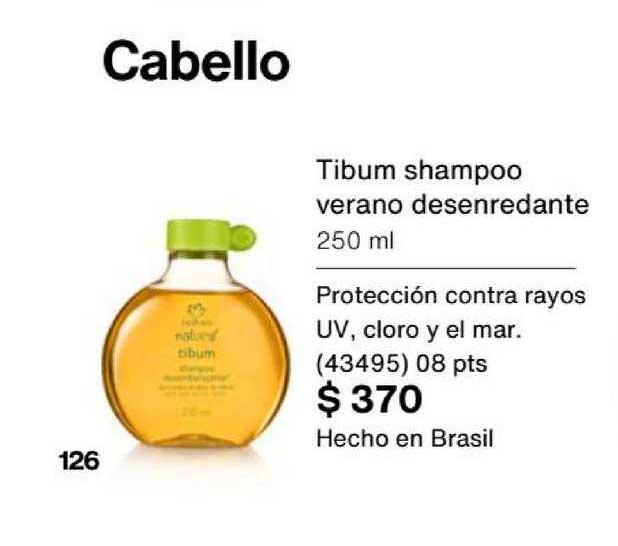 Natura Cabello Tibum Shampoo Verano Desenredante 250 Ml