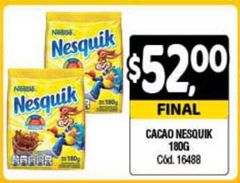 Supermercados Yaguar Cacao Nesquik 180g