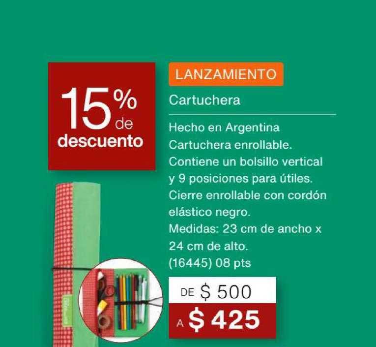 Natura Cartuchera 15% De Descuento