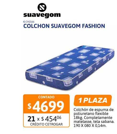 Cetrogar Colchon Suavegom Fashion