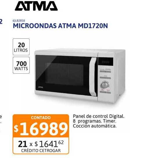 Cetrogar Microondas Atma MD1720N