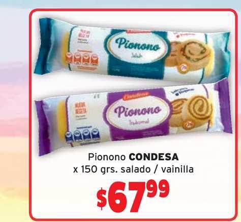 Único Supermercados Pionono Condesa X 150 Grs. Salado - Vainilla